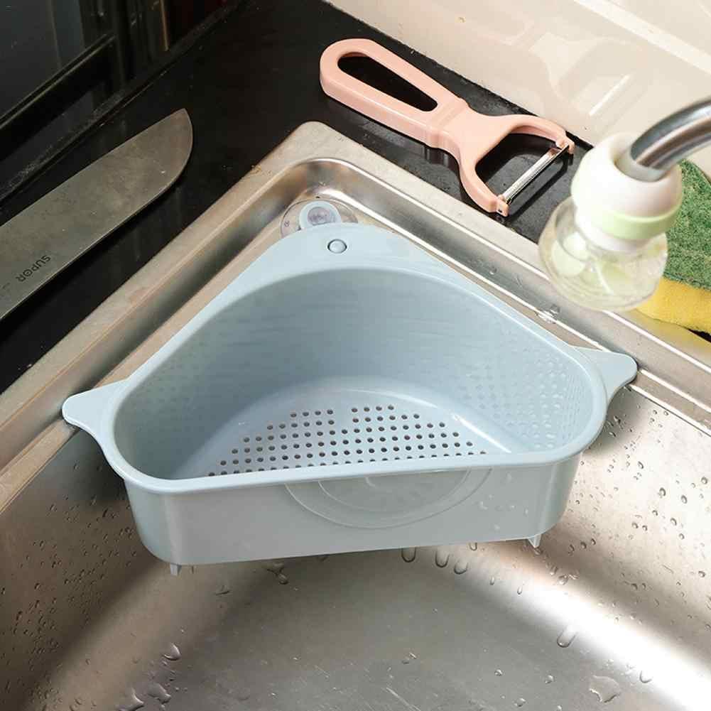 شفط كأس PP استنزاف رف المطبخ الثلاثي بالوعة المنظم متعددة الوظائف الخضار الفاكهة مصفاة حوض تخزين سلة المرشح