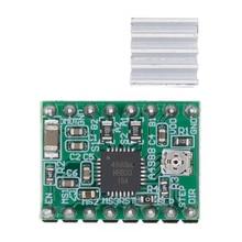 100 sztuk A4988 moduł CNC 3D drukarki części akcesoria Reprap pololu moduł sterownika silnika krokowego z radiatorem dla ramps 1.4