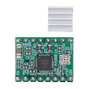 Image 1 - 100 sztuk A4988 moduł CNC 3D drukarki części akcesoria Reprap pololu moduł sterownika silnika krokowego z radiatorem dla ramps 1.4