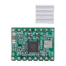 Модуль A4988 с ЧПУ, детали для 3D принтера, аксессуары, модуль шагового двигателя Reprap pololu с радиатором для ramps 1,4, 100 шт.