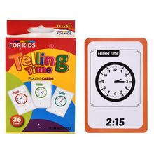Telling Time Flash Cards Montessori Toy for Children Kids Early Preschool