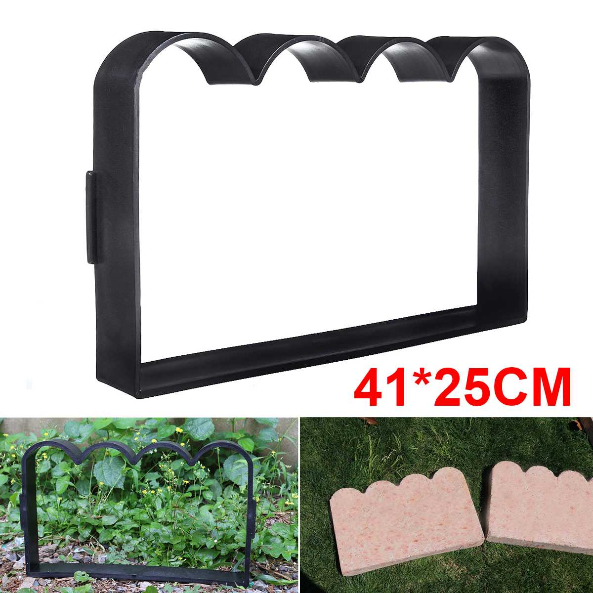 Garden Fence Mold  Brick Cement Molud Antique Fence Stone Mold Path DIY Courtyard Flower Pool Fish Pond Lawn Pathmate Mold