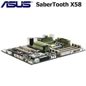 Материнская плата ASUS SaberTooth X58 LGA 1366 DDR3 Intel X58 Core i7 Extreme/Core i7 24 ГБ X58 USB3.0 оригинальная материнская плата для настольных ПК