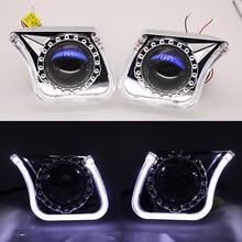 TAOCHIS YT140 3.0 cali bi xenon projektor LED osłona obiektywu DRL samochód reflektory anioł oczy biały czerwony niebieski żółty kolor