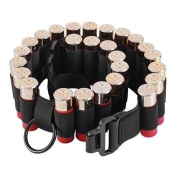 Tactical 25 Rounds Ammo Shell Holder Belt 12 Gauge Ammo Pouch Military Shotgun Cartridge Belt Waist Bullet Cartridges Holster 3