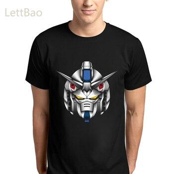 Camiseta con estampado de hombre Digital Gundam, camisetas de Anime japonés antiguo Gunpla, camiseta de Robot Mecha Arte De Línea Harajuku, camisetas para hombre
