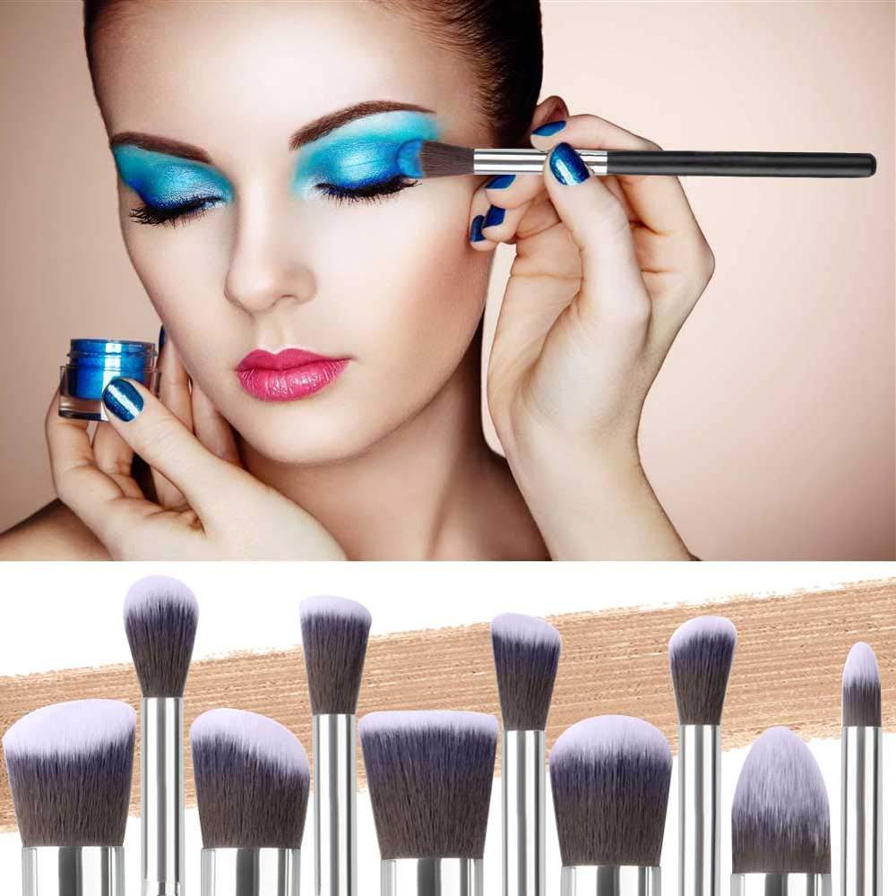 Makeup Brushes tool set 10pcs Professional Powder Foundation Eyeshadow Make Up Brushes Cosmetics Soft Synthetic Hair 2