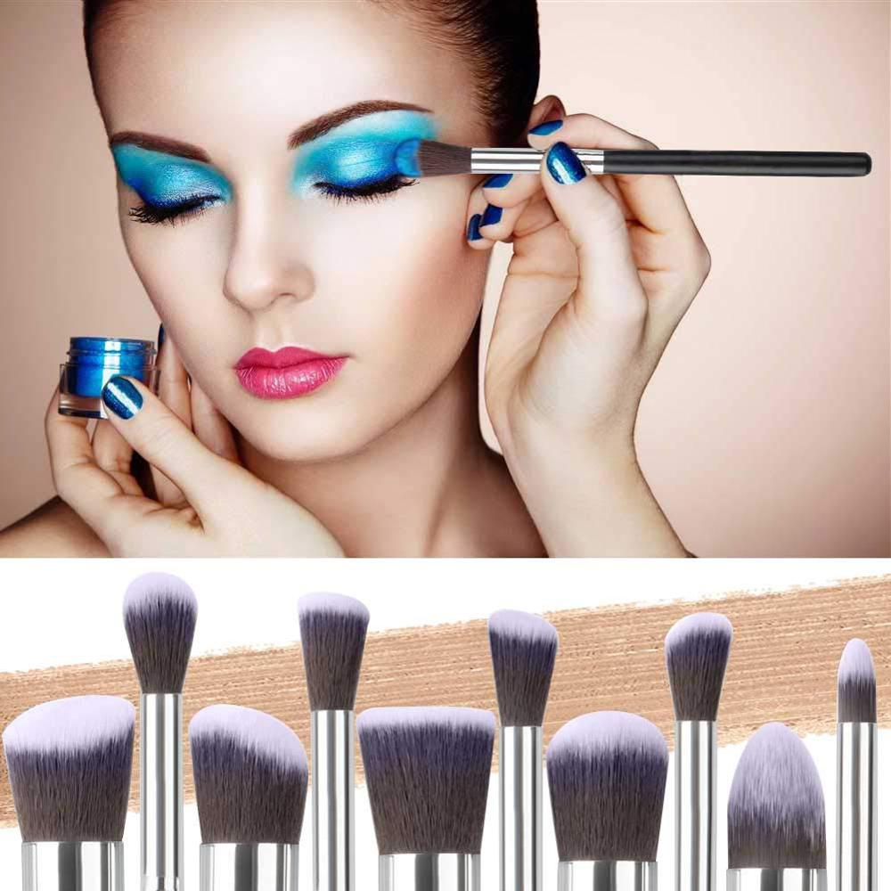 Image 3 - Makeup Brushes tool set 10pcs Professional Powder Foundation Eyeshadow Make Up Brushes Cosmetics Soft Synthetic Hair-in Eye Shadow Applicator from Beauty & Health