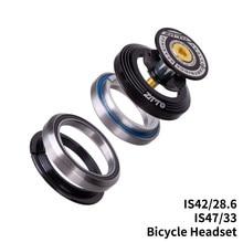 Fone de ouvido para bicicleta 42mm 47mm, cnc 1 1/8