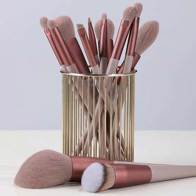 13pcs Professional Makeup Brush Set Soft Fur Beauty Highlighter Powder Foundation Concealer Multifunctional Cosmetic Tool Makeup 1
