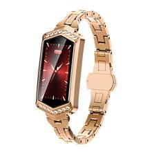 B78 smart watch kobiety bransoletka fitness Tracker tętna Monitor ciśnienia krwi tlenem opaska smartwatch najlepszy prezent dla kobiet tanie tanio GDZHLbag 21cm Moda casual Cyfrowy Ze stopu Składane zapięcie z bezpieczeństwem 3Bar 12mm Owalne 14mm Papier 48 5mm