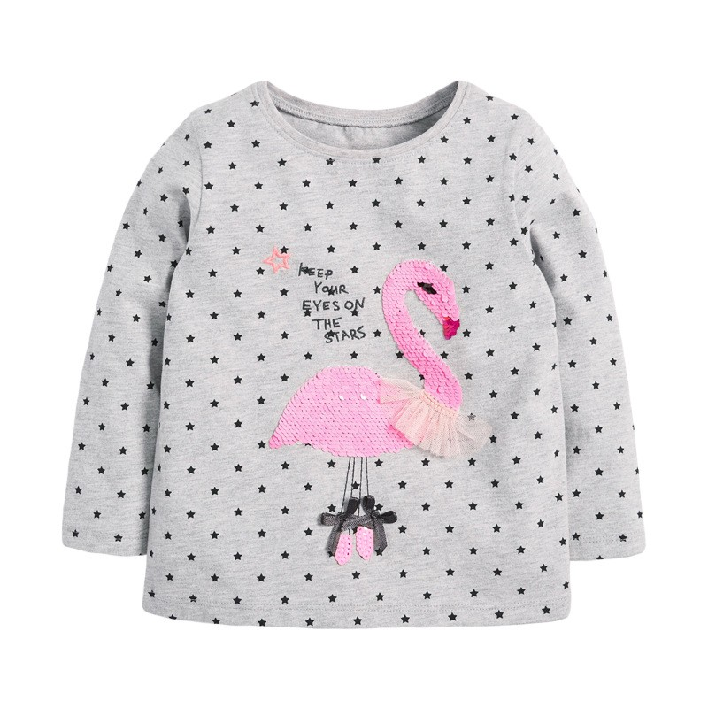 VIDMID Baby Girls Long Sleeve Casual T-shirts Kids Cotton Floral Cartoon Clothes Tops Children Girls T-shirts Tees Kids Baby Top 3