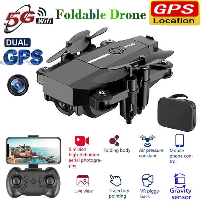 RC Drone Quadrocopter UAV with Camera Remote Control 4K Professional Dron HD WIFI Quadcopter Helicopter One-Key Return Toy