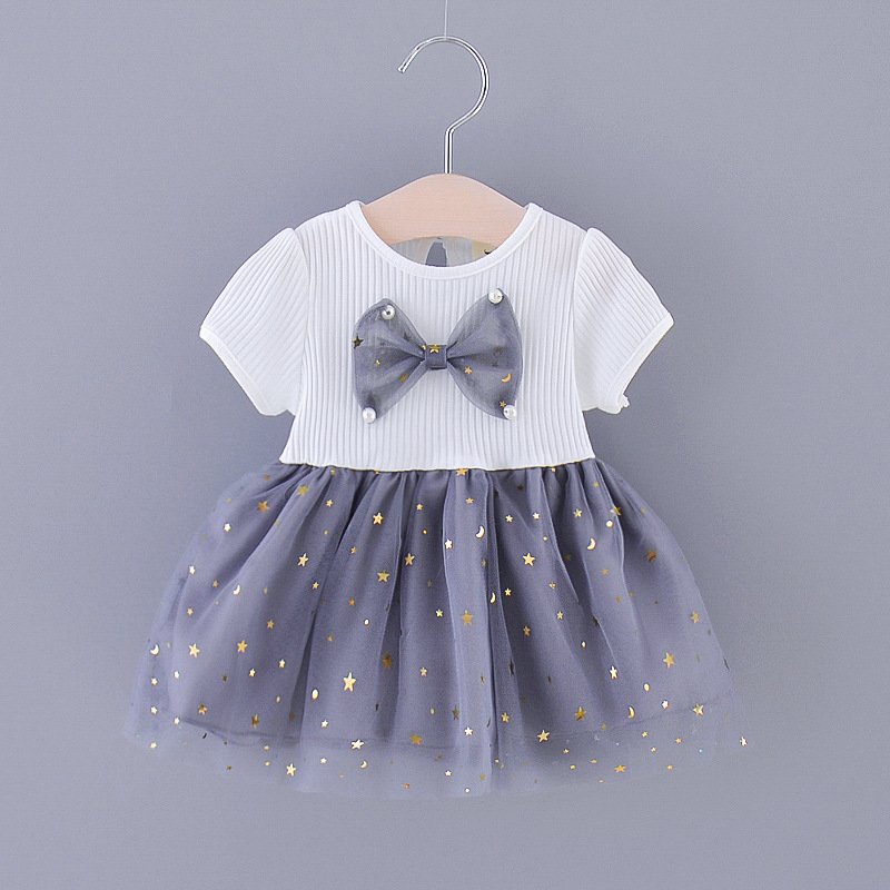 Newborn Baby Girls Summer Clothes Outfits Casual Dress For Infant Baby Girls Clothing Short Sleeve Tutu Birthday Dresses Dress