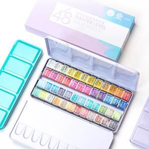 Paints-Set Art-Supplies Tin-Box Drawing Aquarell Artist Solid Watercolor Professional