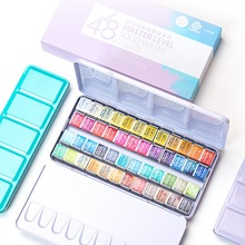 Superior Artist 12/24/36/48Colors Solid Watercolor Paints Set Tin box Professional Water Color for Drawing Aquarell Art Supplies
