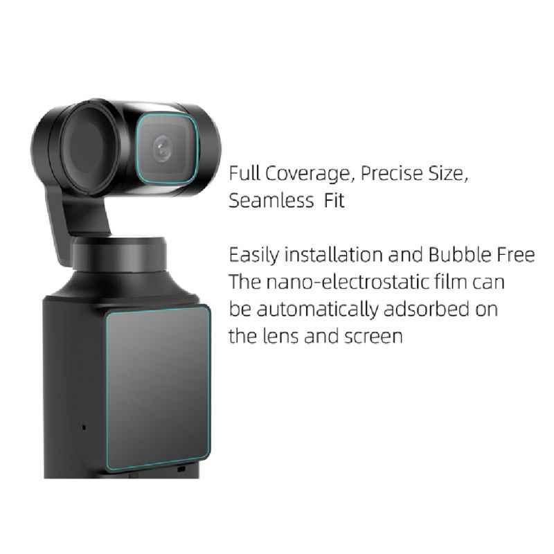 1Set Definisi Tinggi Film Pelindung Lensa Pelindung Layar untuk Fimi Palm PTZ Kit A69B