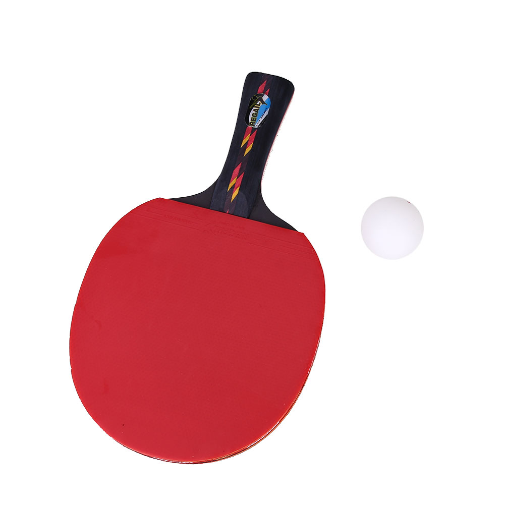 1 Set Table Tennis Racket Racquet Ping Pong Paddle Bat Multicolor Portable