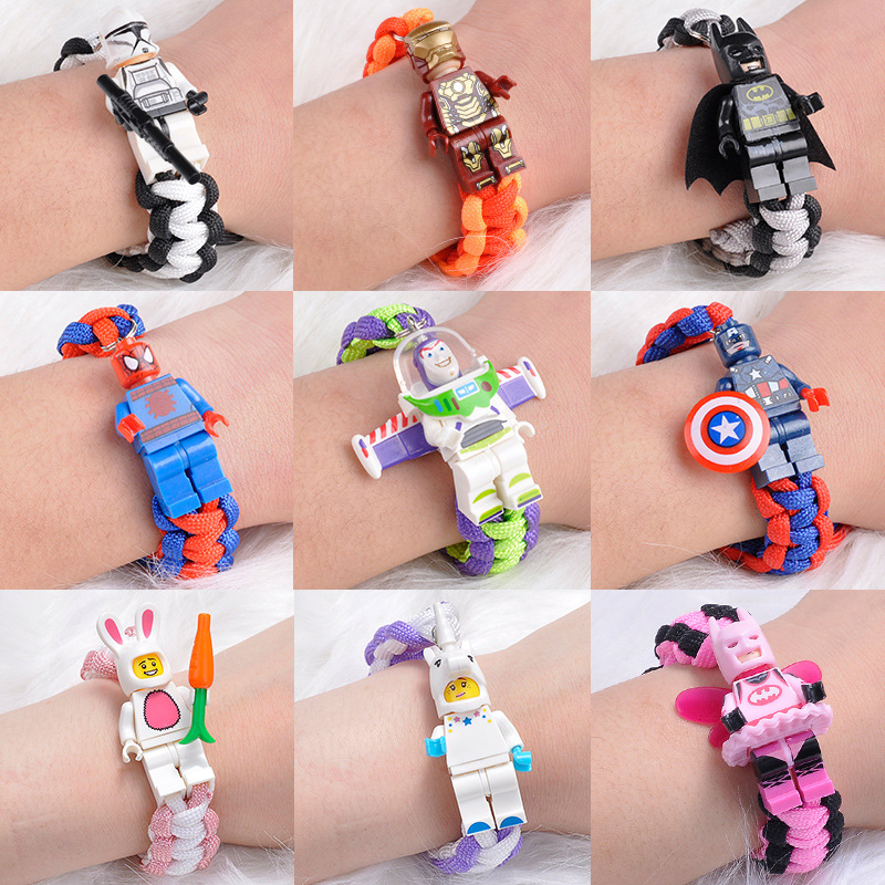 Wholesale Toy Story 4 Buzz Lightyear Bracelet Building Blocks Toys Legoinglys MinecraftINGlys AvengersINGLY Iron Man Batman Gift
