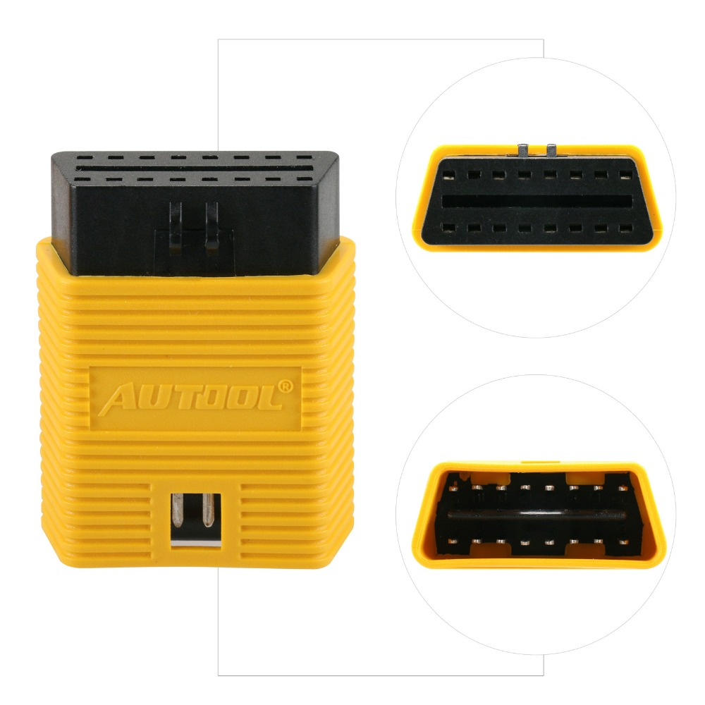 AUTOOL 16 Pin Scanner Launch OBD2 II ODB 2 Adapter Extension Universal Extension Connector For ELM327/AL519/Easydiag Tester