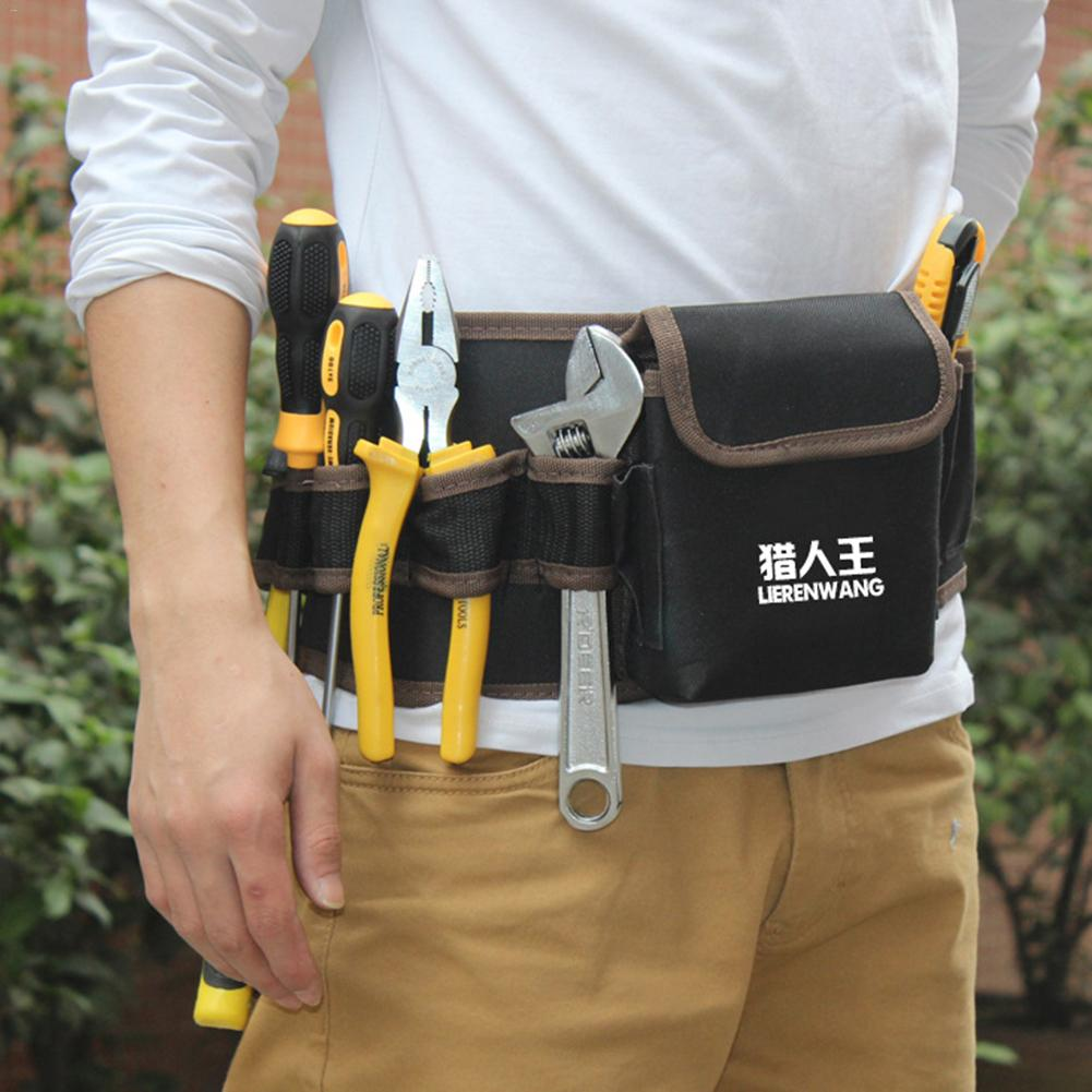 2019 Multi-Pockets Waist Tool Bag Electricians Belt Bag Electrician Tool Pocket Holster Storage Holder