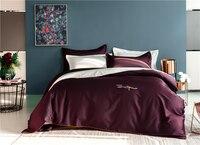 Luxury 1000TC egyptian cotton Queen King Bedding Set Bed cover Bedsheet Duvet Cover pillowcase red white Bed set parure de lit