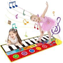 كبيرة الحجم الموسيقية حصيرة الطفل تلعب البيانو حصيرة لوحة المفاتيح لعبة أداة عزف موسيقى لعبة السجاد الموسيقى اللعب ألعاب تعليمية للأطفال هدايا