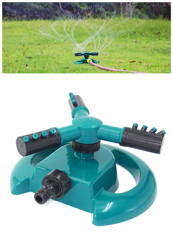 Home Garden Sprinklers Automatic Watering Grass Lawn 360 Degree 4 Nozzle Circle Rotating Irrigation System Lawn Irrigation|Garden Sprinklers| |  - title=