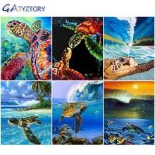 Gatyztory diy картина по номерам морская черепаха Раскраска