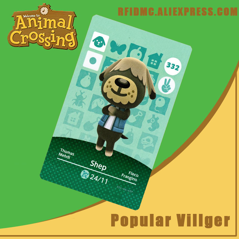 332 Shep Animal Crossing Card Amiibo For New Horizons