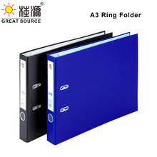 A3 Lever Arch File 2 D-Rings Paper Board Folder Pull Stationery Document Storage Folder (2PCS)