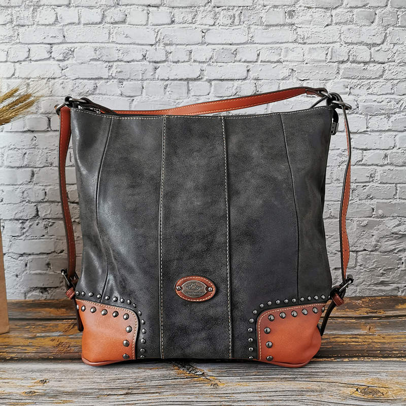 2019 Hot Sale Fashion Genuine Leather Women's Bag Large Capacity Handbag Ladies Single Shoulder Bag Multi-functional Bag
