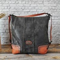 2019 Hot Sale Fashion Genuine Leather Women's Bag Large Capacity Handbag Ladies Single Shoulder Bag Multi functional Bag