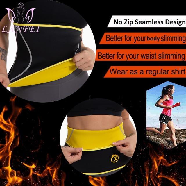 LANFEI Waist Trainer Cincher Belts Girdle Modeling Body Shaper for Women Slimming Corset Tight Neoprene Sauna Sweat Band Strap 2