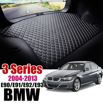 Leather Car Trunk Mat Carpet Tail BMW 325i Cargo Liner For BMW 3 Series 2004-2013 Trunk Boot Mat BMW E90/E91/E92/E93 Liner Pad image