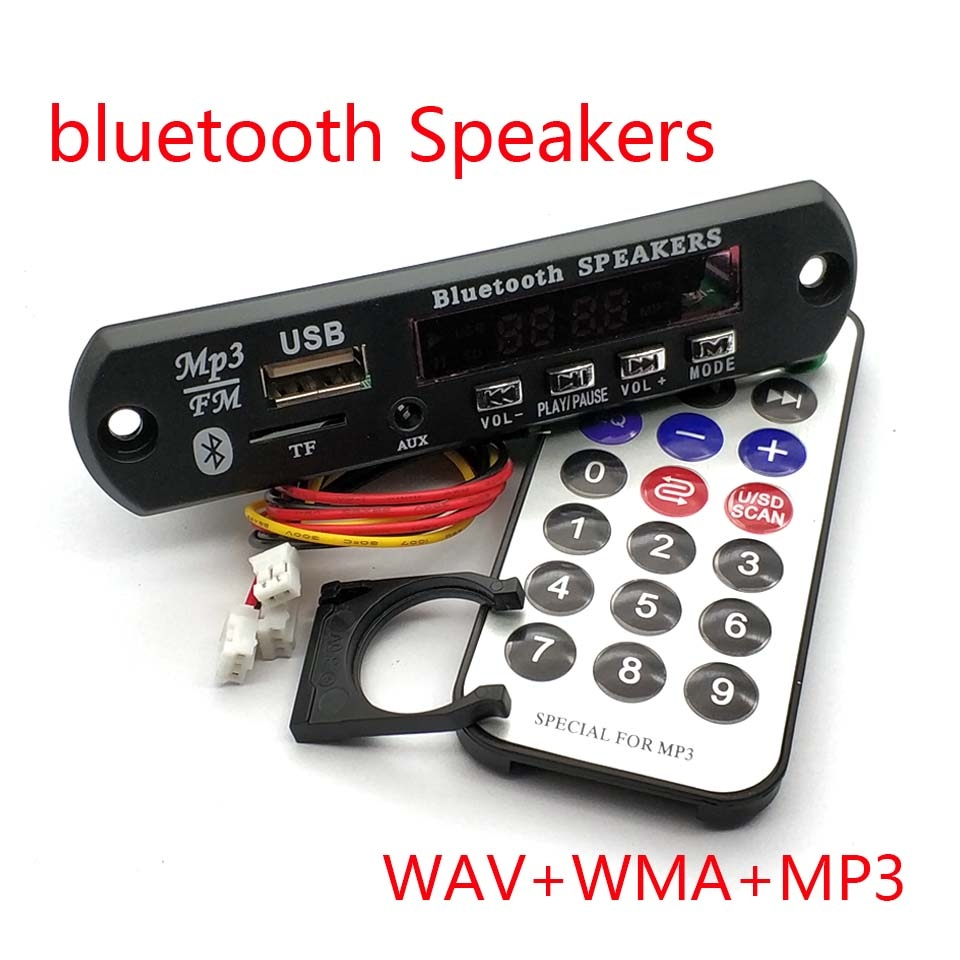 Drahtlose <font><b>Bluetooth</b></font> 12V <font><b>MP3</b></font> WMA <font><b>Decoder</b></font> <font><b>Board</b></font> Audio Modul USB TF Radio FM AUX Für Auto Zubehör image