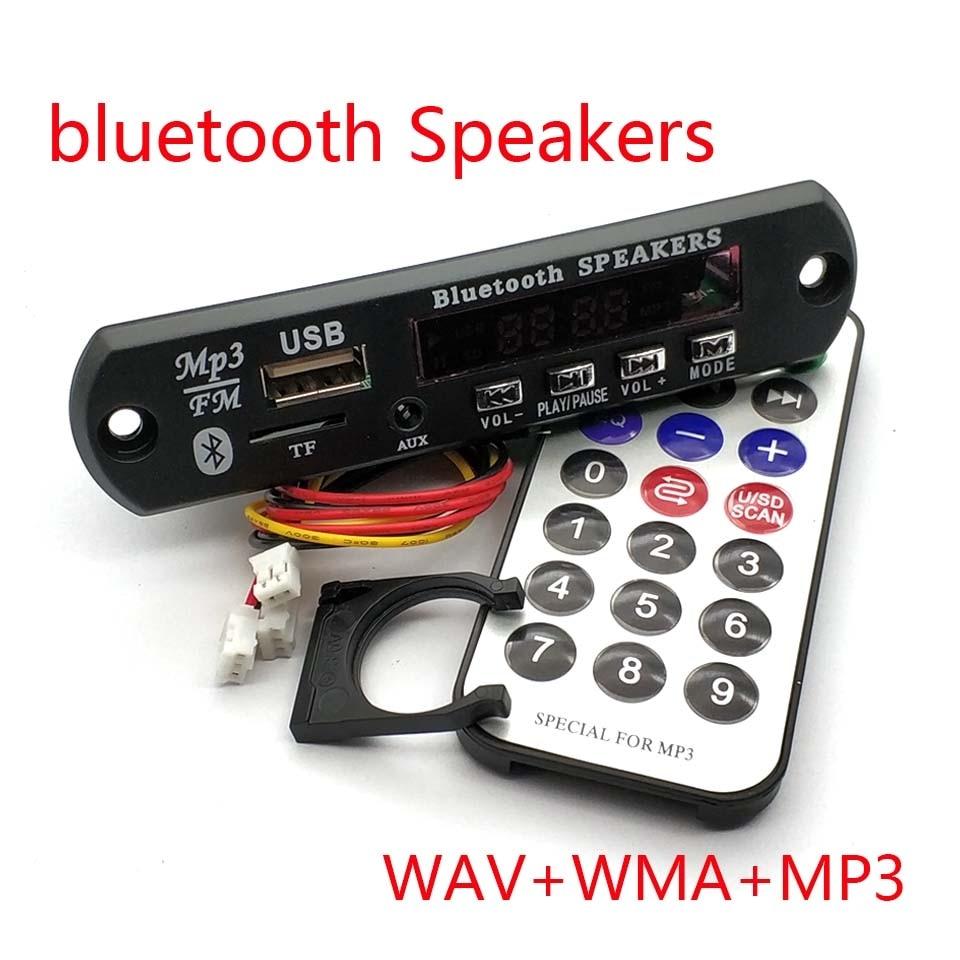 Wireless Bluetooth 12V MP3 WMA Decoder Board Audio Module USB TF Radio FM AUX For Car Accessories