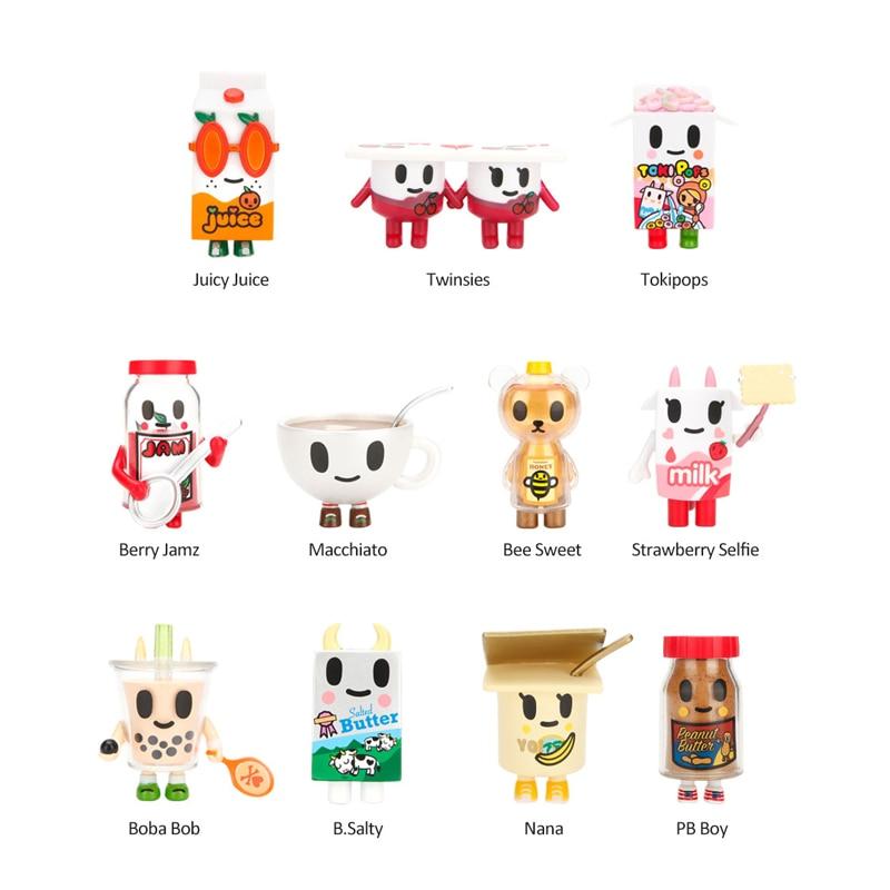 Original Tokidoki Milk Breakfast Series Blind Box Action Figure Toy Mini Doll Collectibles Gift
