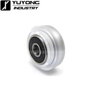 Image 1 - Roue de Xtreme en Polycarbonate transparent CNC de haute précision, roue à fente en v solide, pour rail à fente en v, OX CNC, pièces de faisceau C 3D