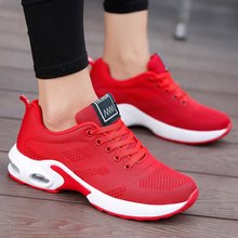 Fashion Women Sneakers Running Shoes Outdoor Sports Shoes Breathable Mesh Comfort Jogging Mesh Shoes Air Cushion Lace Up Ladies