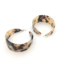 CC  Acrylic Earrings Leopard Print Round Hoop Geometric Dangle Drop acetate earring