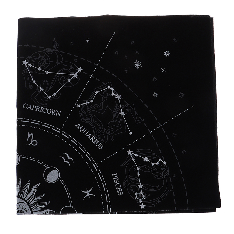Special 12 Constellations Tarot Card Tablecloth Astrology Tarot Divination Cards Table Cloth Tarot Card Storage Bag Toy Home