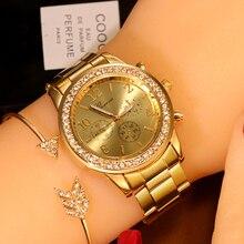 New Watch Women Classic Geneva Luxury Ladies Watche