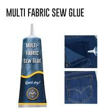 1pc 50ml ultra-vara costurar cola líquido multi-tecido costura multi função reparação de roupas cola kit universal rápida aderência seca