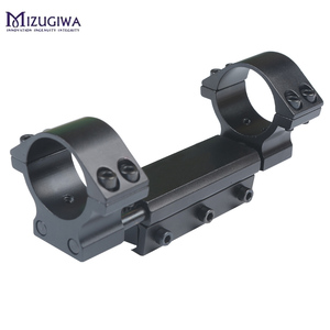 Image 4 - One Piece Airgun Rifle Scope Mount 25.4mm / 30mm Double Ring W/Stop Pin 11mm Rail Hunt Weaver Rail Mount Adapter With Flat top