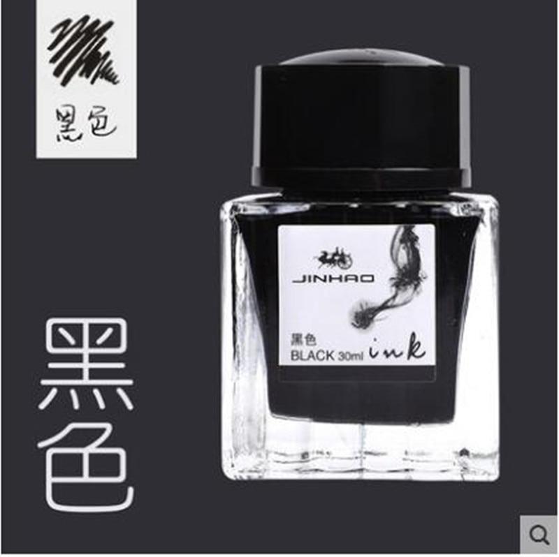 30 Pcs /30ML Glass Bottle Black Blue Ink Cartridge For Fountain Pen Jinhao 2.6mm Diameter Stationery Office School Supplies