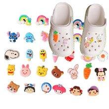 10 20 30 pçs/set Encantos da Sapata do PVC Dos Desenhos Animados Decorações de Sapato Fivelas Sapatos Acessórios fit Croc Pulseira JIBZ Festa Toy kid Presente
