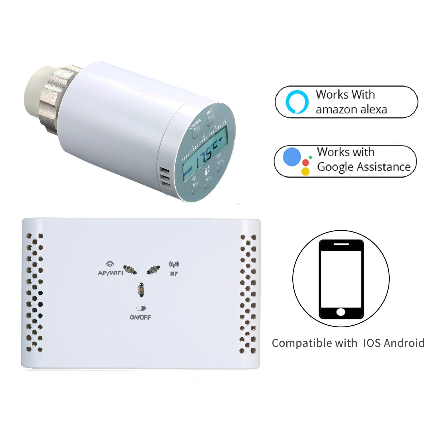 SEA801- WIFI Programmable Thermostat Temperature Controller Receiver And TRV Thermostatic Radiator Valve For Heating Gas Boiler