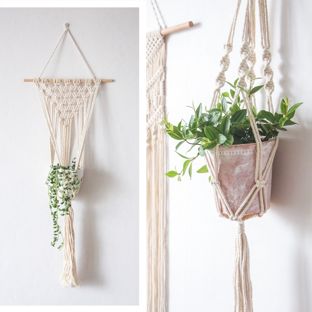 New Arrival Free Shipping Handmade Marcrame Plant Hanger Pot Hanger Book Holder