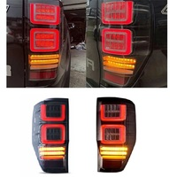 Alta qualidade traseira led cauda lâmpada luzes traseiras sinal de volta luzes de freio apto para ford ranger t6 t7 t8 2012 2017 pickup carro|Luzes p/ carro| |  -